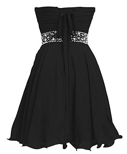 Chiffon Champagne Neckline ASBridal Womens Homecoming Beaded Dress Sweetheart Short Strapless EUvwTgzqw