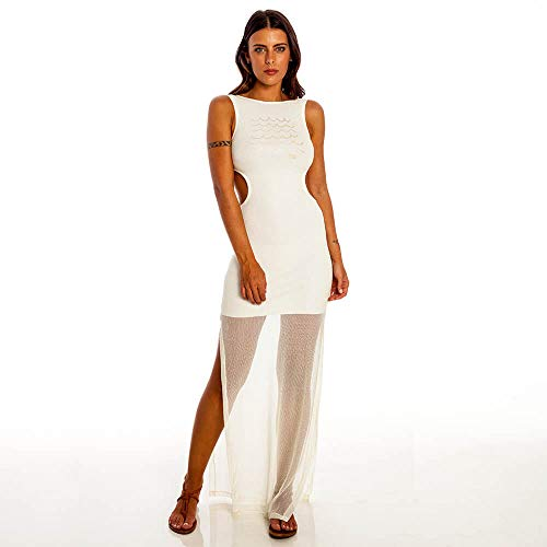 Vestido Wave Feminino Hang Loose Off White - M