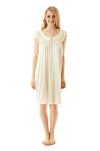 9019 Pajamas Night Gown Pajamas Sleepwear Lime M