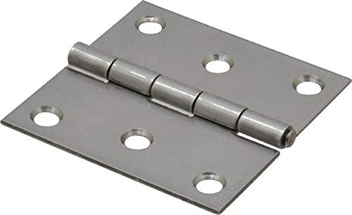 2-1/2'' Long x 2-1/2'' Wide x 0.062'' Thick, 302/304 Stainless Steel Commercial Hinge pack of 10