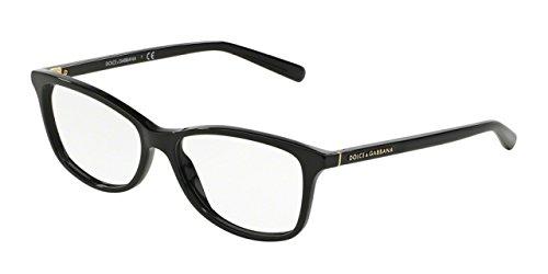 Dolce&Gabbana DG3222 Eyeglass Frames 501-52 - Black