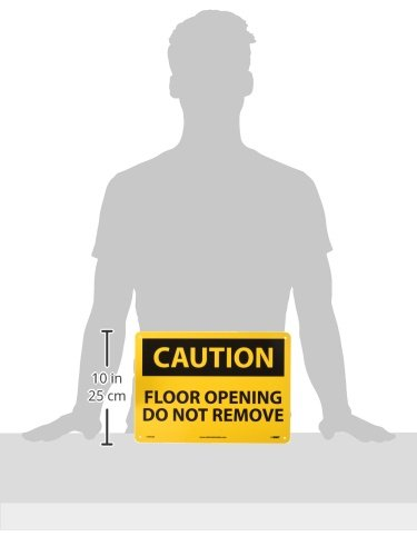 Nmc c495ab osha sign legend caution floor opening do for Floor 4 do not remove
