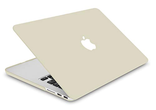 """KECC Laptop Case for Old MacBook Pro 13"""" Retina (-2015) w/Keyboard Cover Plastic Hard Shell Case A1502/A1425 2 in 1 Bundle (Cream)"""