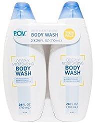 P.O.V. Deeply Moisturizing Body Wash Twin Pack, 24 Fl Oz (Pack of 6)