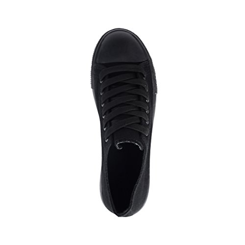 Elara , Baskets pour homme noir all black