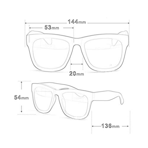 Gafas Retro conducción Grande para Nuevas UV Cuadro Running Tendencia Vogue de polarizadas D de de Hombres sol Aviador rYwArOB