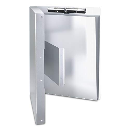Aluminum Clipboard with Storage Form Holder Portfolio Aluminum Metal Binder Heavy Duty with High Capacity Clip Posse Box - Clipboard for Office Business Professionals Stationer Photo #2
