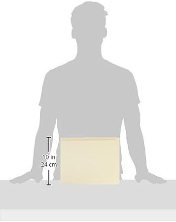 Letter Smead 24190 Conversion File Folders Manila Straight Cut Top Tab Box of 100