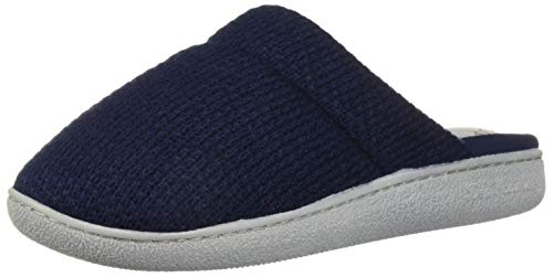 Dearfoams Women's Textured Knit Closed Toe Scuff Slipper, Peacoat, M Regular US by Dearfoams (Image #1)