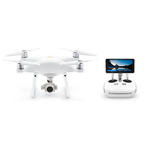 DJI Phantom 4 PRO Plus Drone with 1-inch 20MP 4K Camera KIT with Built In monitor, 32GB Micro SDXC Card, Reader 3.0 and Must Have Accessories with HardCase