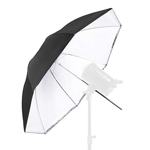 (Neewer Convertible Photography Lighting Umbrella for Monolight Flash 45 inches/114.3 Centimeters - White Satin with Removable Black Cover, Light Reflector and Modifier for Photo Studio Shooting)