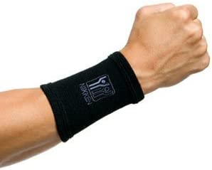 1 Nikken Medium Wrist Sleeve 1825 - Black, Thin, Far Infrared, Carpal Tunnel Tendonitis Sleeping Typing Injury Pain Relief & Recovery, Weightlifting Crossfit Boxing, Brace, Wrap, Compression, Support
