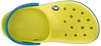 Crocs Kids' Crocband K Clog,tennis Ball Greenocean,9 M Us Toddler 10