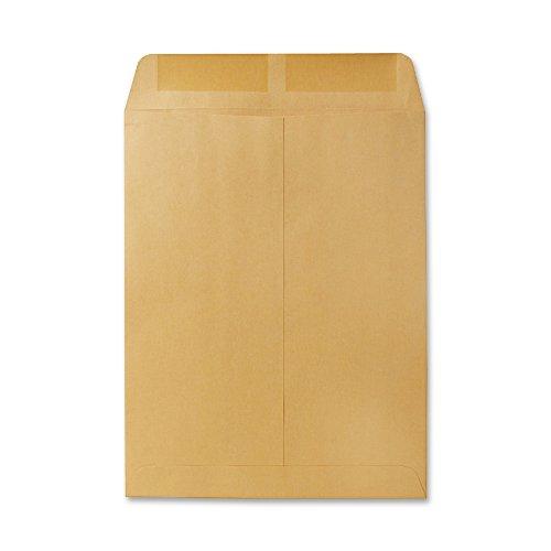 Quality Park Gummed Open-End Catalog Envelopes, 10'' x 13'', Brown, 100/Bx