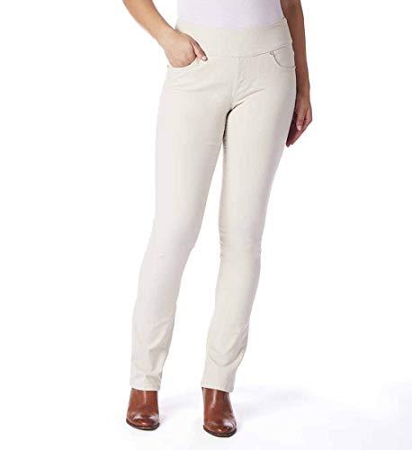 (Jag Jeans Women's Peri Straight Pull on Jean, Black Twill, 6)
