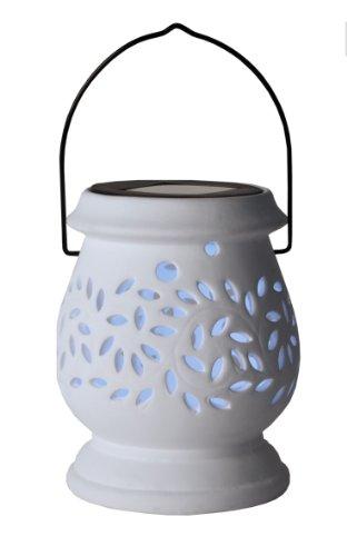 Best Season LED Solar Lantern Lantern Clay, white by Best Season