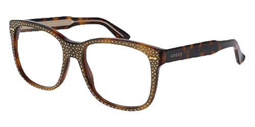 Gucci - GG0047S Sunglass ACETATE (Havana, - Transparent Gucci