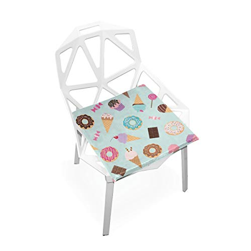 Pkolino Green Desk - SLHFPX Seat Cushion Sweet Donut Cupcake Ice Cream Chair Cushion Offices Butt Chair Pads Square Wheelchairs Mat for Student