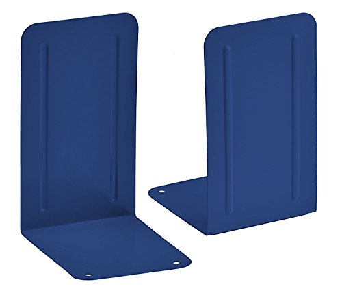 (Acrimet Premium Metal Bookends (Heavy Duty) (Deep Blue Color) (1 Pair))