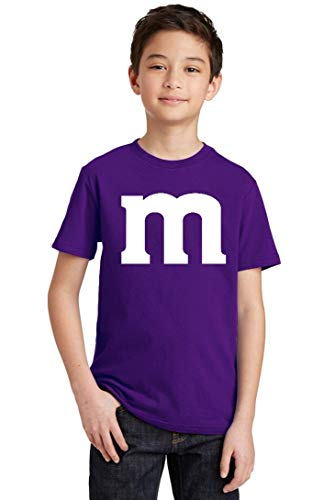 Promotion & Beyond M Halloween Team Costume Funny Party Youth T-Shirt, Youth XS, Purple -