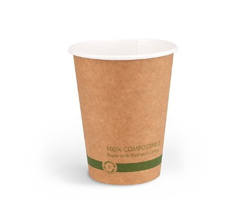 World Centric 100% Biodegradable, 100% Compostable Paper PLA-Lined 12 Ounce Kraft Coffee Hot Cup (Package of 200) from World Centric