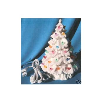 Amazon Com Ceramic Christmas Tree 16 White Round And Beautiful