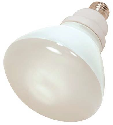 Compact 23w R40 - 6 Pack Satco S7241 23 Watt R40 2700K Compact Fluorescent Indoor Reflector Light Bulb (85 Watt Replacement)