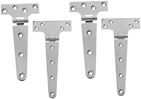 """8/"""" 316 Stainless Steel Triangle Tee Hinge Boat Shed Door Wooden Gate T Hinge"""