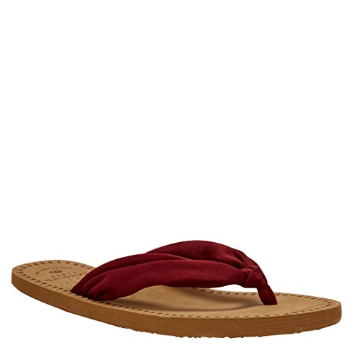 Animal Cilla Flip-Flops - Bordeaux Red UK 8