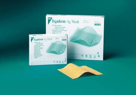 Mesh Dressing Tegaderm Ag Silver Sulfate 2 X 2 Inch - 5 Per Box