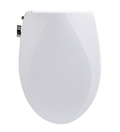 Easy DIY Installation AXENT FB107 Non-Electric Elongated Silent-Closing Comfortable Bidet Toilet Seat White