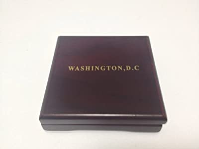 Navy Coin in Wood box