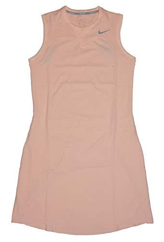 (Nike Flex Sleeveless Golf Dress 2018 Women Crimson Tint/Flat Silver)