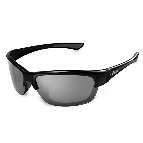 Flux Polarized Sports Sunglasses with Anti-Slip Function and Light Frame - for Men and Women when Driving, Running, Baseball, Golf, Casual Sports and Activities: - Driving When Sunglasses