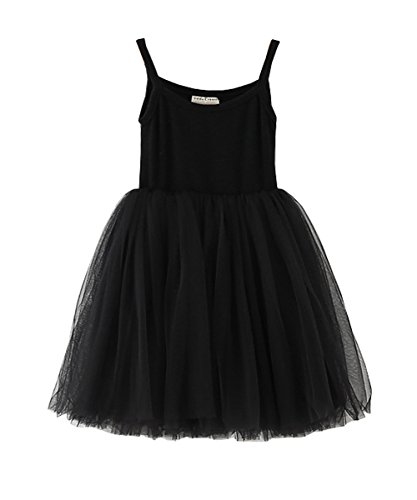 LYXIOF Baby Girls Tutu Dresses Sleeveless Princess Dress Infant Tulle Dress Toddler Sundress Black A 2 Years