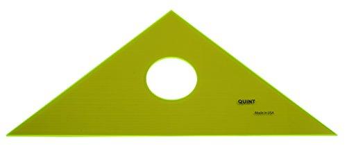 "UPC 701926457106, QUINT Premium Professional Fluorescent Green Acrylic Triangle 45/90 - 10"""