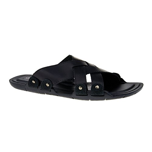 New Mens Slip On Sandals Comfort Summer Walking Mules Shoes Beach Flip Flops UK Black