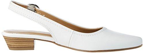 Weiß Slingback 117 29400 Damen White Leather Tamaris C1f8w0Bxqw
