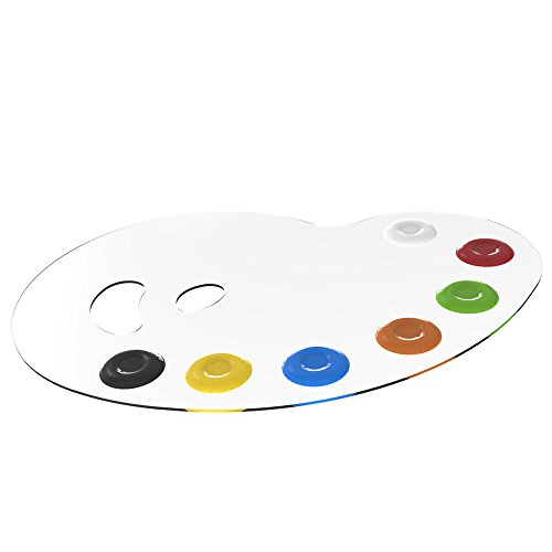 rge Clear Painter's Palette - Professional Durable Ergonomic Design for Acrylic and Oil Paints (Durable Palette)