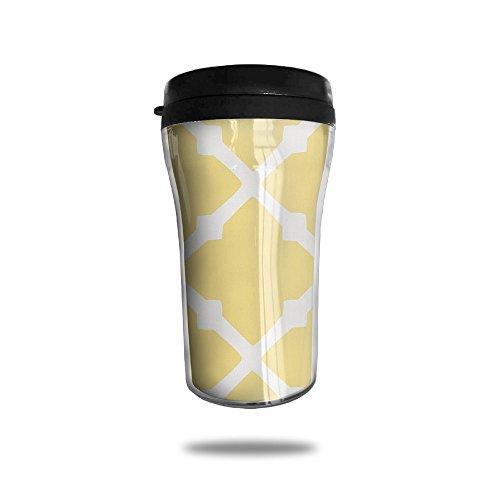Gabriela Rosales Yellow Plaid Watertight Stylish Decorative Cup Mug Mugs Coffee Mugs Coffee Cups Tea Cups Cups Milk Cup Milk Mugs Water Cup Tea Mugs Travel Mugs