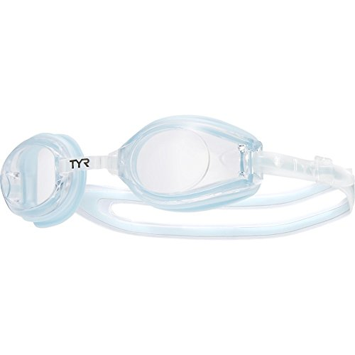 TYR Femme T-72 Petite Performance Goggle (Clear/Ice Blue)