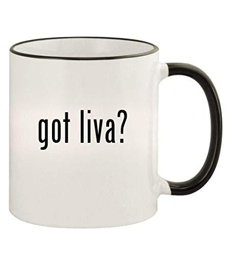 - got liva? - 11oz Colored Rim and Handle Coffee Mug, Black
