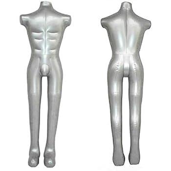 Amazon.com: newsmarts hinchable macho maniquí de cuerpo ...