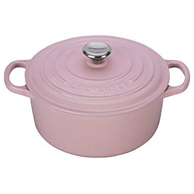 Le Creuset of America Signature Cast Iron Round Dutch Oven, 7-1/4-Quart, Hibiscus