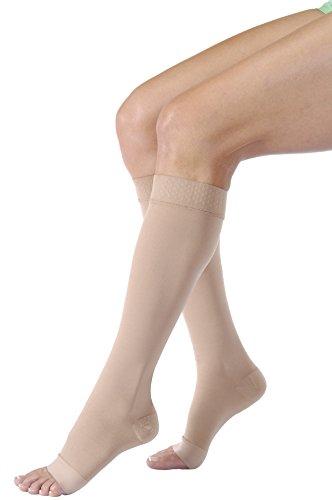 BSN Jobst Relief 30-40 Knee High Open Toe Beige Stockings...