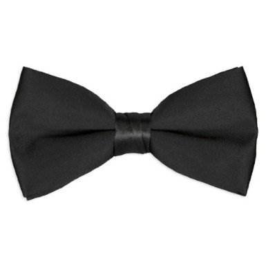 Tuxedo Park Boys Black Satin Bow (Boys Black Satin)