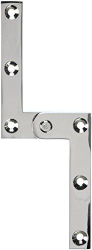 Deltana PH35U14 Solid Brass 3 7/8-Inch x 5/8-Inch x 1/4-Inch Pivot Hinge (Pivot Polished Brass)