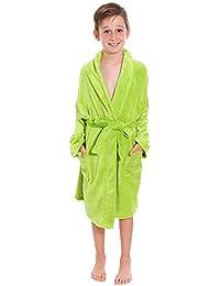 Simplicity Kid's Soft Plush Bathrobe Robe with Long Sleeve, Pockets