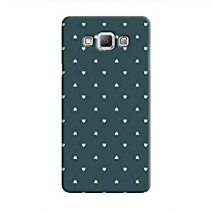 Cover It Up - Tiny Green Hearts Galaxy A8Hard Case