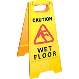 wet floor sign 39 caution wet floor 39 size 640mm h. Black Bedroom Furniture Sets. Home Design Ideas